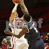 Rob Winner – rwinner@shawmedia.com<br /> <br /> Northern Illinois' Abdel Nader (23) has a shot blocked by Akron's Demetrius Treadwell (1) in the first half in DeKalb, Ill., Saturday, Jan. 12, 2013.