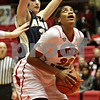 Rob Winner – rwinner@shawmedia.com<br /> <br /> Northern Illinois' Natecia Augusta (32) looks to the basket before a shot during the first half in DeKalb, Ill., Wednesday, Jan. 16, 2013.