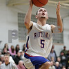 Rob Winner – rwinner@shawmedia.com<br /> <br /> After a steal, Hinckley-Big Rock's Bernie Conley puts up two points with a layup during the first quarter in Hinckley, Ill., Tuesday, Jan. 15, 2013. H-BR defeated Indian Creek, 64-60.
