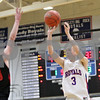 Rob Winner – rwinner@shawmedia.com<br /> <br /> Hinckley-Big Rock's Jared Madden hits a field goal for three points during the third quarter in Hinckley, Ill., Tuesday, Jan. 15, 2013. H-BR defeated Indian Creek, 64-60.
