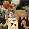 Rob Winner – rwinner@shawmedia.com<br /> <br /> Sycamore's Bailey Gilbert (25) puts up her third field goal in the first quarter against Morris in Sycamore, Ill., Friday, Jan. 4, 2013. Sycamore defeated Morris, 67-47.