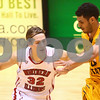 Kyle Bursaw – kbursaw@shawmedia.com<br /> <br /> Northern Illinois' Aksel Bolin moves the ball up the court against Kent State guard Bryson Pope in the first half at the Convocation Center in DeKalb, Ill. on Wednesday, Jan. 30, 2013.