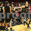 Kyle Bursaw — kbursaw@shawmedia.com<br /> <br /> Sycamore's Lauren Goff is introduced before the start of the game against DeKalb. DeKalb defeated Sycamore 36-18 in their annual game at the Convocation Center in DeKalb, Ill. on Friday, Jan. 25, 2013.