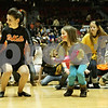 Rob Winner – rwinner@shawmedia.com<br /> <br /> Kayla Baum (left) and Melissa Sieglinger dance during halftime of the girls basketball between Sycamore and DeKalb at the Convocation Center in DeKalb, Ill., Friday, Jan. 25, 2013.
