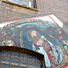 "Rob Winner – rwinner@shawmedia.com<br /> <br /> Johann Kalb, known more commonly as Baron de Kalb, is seen on the mural ""Its Merits Recommend It…"" located on the Van Orthopaedic & Spine Surgery building on the corner of First Street and Lincoln Highway in downtown DeKalb. Muralist Olivia Gude led a group of painters to create the work in 1999.<br /> <br /> Tuesday, July 2, 2013"