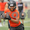 Rob Winner – rwinner@shawmedia.com<br /> <br /> DeKalb receiver Rudy Lopez reaches for the end zone after a catch during a 7-on-7 scrimmage against Rockford Lutheran in DeKalb, Ill., Monday, July 8, 2013.