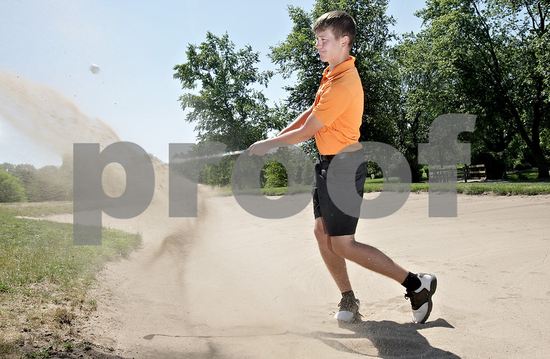 Monica Maschak - mmaschak@shawmedia.com<br /> Jacob Cook, 16, plays for the DeKalb High School Golf Team.