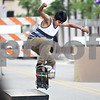 Monica Maschak - mmaschak@shawmedia.com<br /> Luis Fulgencilo, 14, jumps onto a box at Skate Street in Van Buer Plaza Wednesday, July 24, 2013.
