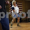 Rob Winner – rwinner@shawmedia.com<br /> <br /> Connie Clarner (center) leads a line dancing class in the basement of the Sycamore Veterans Club in Sycamore, Ill., Monday, July 1, 2013.