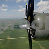 Monica Maschak - mmaschak@shawmedia.com<br /> B-17G Bomber Flying Fortress propellers over the green land of DeKalb County.