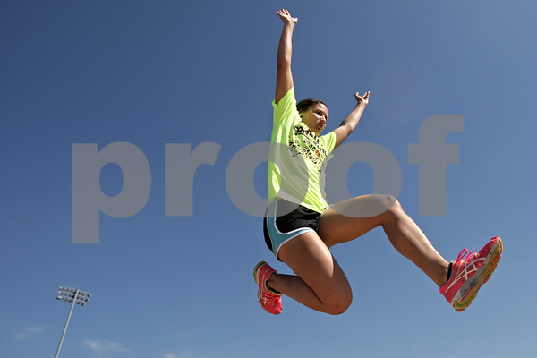 Rob Winner – rwinner@shawmedia.com<br /> <br /> DeKalb's Jasmine Brown is the Daily Chronicle's 2013 female track athlete of the year.<br /> <br /> DeKalb, Ill.<br /> Friday, May 24, 2013