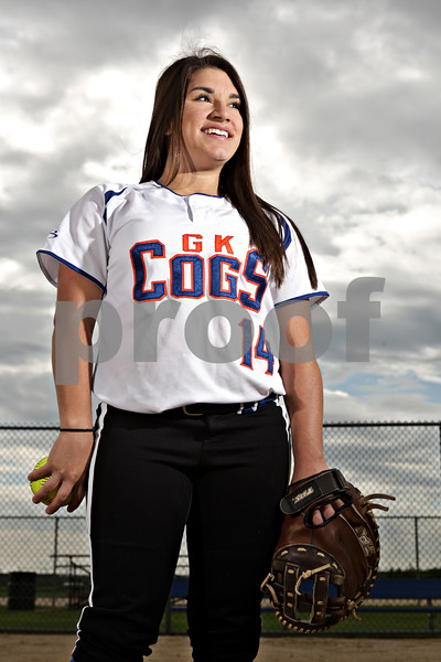 Rob Winner – rwinner@shawmedia.com<br /> <br /> Genoa-Kingston junior catcher Paige Keegan is the 2013 Daily Chronicle Softball Player of the Year.<br /> <br /> Taken in Sycamore, Ill.<br /> Friday, June 7, 2013
