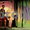 Monica Maschak - mmaschak@shawmedia.com<br /> Greg Hammond, as donkey, and Dan Hyde, at Shrek, run through a scene during a dress rehearsal for Shrek the Musical at Stage Coach Player in Dekalb on Tuesday, June 4, 2013. The show opens on Thursday, June 6 and run through June 16.