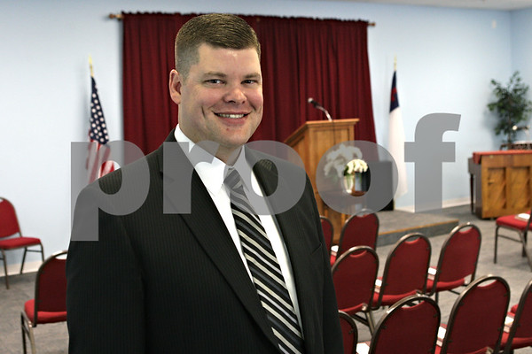 Rob Winner – rwinner@shawmedia.com<br /> <br /> Pastor Kevin D. Spears at Fellowship Baptist Church's new location on Bethany Road in Sycamore, Ill., Tuesday, June 11, 2013.