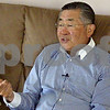 Shu Ueyama talks about his experiences as a foreign exchange student at Sandwich High School in 1962-62 on Saturday at the home of Barb Makela in Sycamore. Ueyama came to Sandwich from Japan in 1962 as a foreign exchange student and stayed at Makela's home for his stay. He returned to the area this weekend for his 50th high school reunion. (John Sahly – jsahly@shawmedia.com)