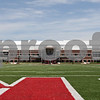 Rob Winner – rwinner@shawmedia.com<br /> <br /> A view of the Yordon Center and the new Chessick Practice Center on the Northern Illinois University campus in DeKalb, Ill., is seen from the south end zone of the football field looking north on Friday, June 14, 2013.