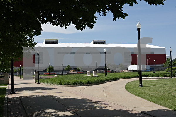Rob Winner – rwinner@shawmedia.com<br /> <br /> An exterior view of the north side of the new Chessick Practice Center on the Northern Illinois University campus in DeKalb, Ill., as seen on Friday, June 14, 2013.