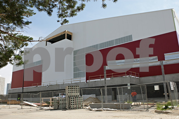 Rob Winner – rwinner@shawmedia.com<br /> <br /> An exterior view of the west side of the new Chessick Practice Center on the Northern Illinois University campus in DeKalb, Ill., as seen on Friday, June 14, 2013.