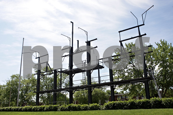 Rob Winner – rwinner@shawmedia.com<br /> <br /> The scoreboard at Huskie Stadium, in DeKalb, Ill., has been removed and will be  upgraded as seen on Friday, June 14, 2013.
