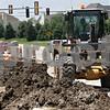Rob Winner – rwinner@shawmedia.com<br /> <br /> Heavy equipment is seen as construction continues on Bethany Road near North First Street in DeKalb, Ill., Tuesday, June 18, 2013.