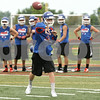 Rob Winner – rwinner@shawmedia.com<br /> <br /> Genoa-Kingston quarterback Griffin McNeal throws a pass during a 7-on-7 game against DeKalb at DeKalb High School on Monday, June 24, 2013.