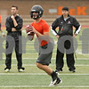 Rob Winner – rwinner@shawmedia.com<br /> <br /> DeKalb quarterback Jack Sauter looks to pass during a 7-on-7 game against Genoa-Kingston at DeKalb High School on Monday, June 24, 2013.