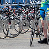 Erik Anderson - For the Daily Chronicle<br /> Gary Hermanek of Park Ridge makes final preparations on his bike before heading to the starting line during the Bike MS: Tour de Farms in DeKalb on Sunday, June 23, 2013. There were over 2,500 participants who began the race at NIU's Convocation Center that rode a 15, 35, or 75 mile route.