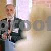 Monica Maschak - mmaschak@shawmedia.com<br /> Northern Illinois University's newest president Douglas Baker speaks to guests at the DeKalb County Economic Development Corporation leader recognition reception at the Barsema Alumni and Visitors Center on Thursday, June 27, 2013.
