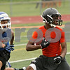 Rob Winner – rwinner@shawmedia.com<br /> <br /> DeKalb's Eriq Torrey picks up some extra yards after a reception during a 7-on-7 game against Genoa-Kingston at DeKalb High School on Monday, June 24, 2013.