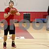 Monica Maschak - mmaschak@shawmedia.com<br /> Junior Jordan Threloff lines up to shoot the ball at a Northern Illinois University summer practice on Wednesday, June 19, 2013. Threloff is a DeKalb High School alumnus who spent his first two years of college at Illinois State University and will be transferring to NIU to play the center position on the basketball team.