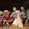 Rob Winner – rwinner@shawmedia.com<br /> <br /> Northern Illinois forward Amanda Corral (22) makes a pass in the first half at the Convocation Center in DeKalb, Ill., Thursday, Feb. 28, 2013.