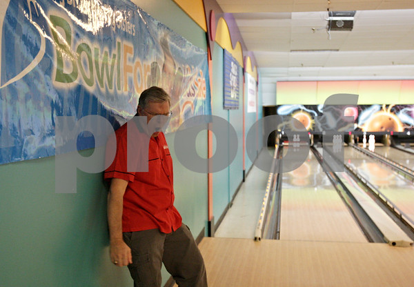 Rob Winner – rwinner@shawmedia.com<br /> <br /> Keith Foster reacts after he was unable to pick up a spare during the Bowl for Kids' Sake event on Friday night at Mardi Gras Lanes in DeKalb.