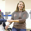 Kyle Bursaw – kbursaw@shawmedia.com<br /> <br /> Third-grader Addie Heinisch promenades with her mother Kim, while square dancing during gym class at St. Mary school in DeKalb, Ill. on Friday, March 1, 2013.