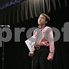 """Rob Winner – rwinner@shawmedia.com<br /> <br /> Matthew Rogers, 12, of Sycamore Middle School, reacts after correctly spelling """"megalopolis"""" in the 14th round to win the DeKalb County Spelling Bee at Kishwaukee College in Malta, Ill., Saturday, Feb. 23, 2013."""