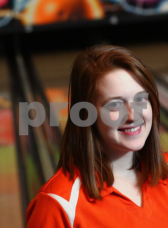 Kyle Bursaw – kbursaw@shawmedia.com<br /> <br /> DeKalb senior Jessica Eberly is the Daily Chronicle's 2013 girls bowler of the year.<br /> <br /> Photographed at Mardi Gras Lanes on Monday, March 4, 2013.