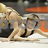 Rob Winner – rwinner@shawmedia.com<br /> <br /> Jacob Lindemann (right), of DeKalb Clinton Rosette, is controlled by Alex Fulton, of O'Fallon Carriel, in a 70-pound match during the Illinois Elementary School Association Boys State Wrestling Tournament at the Convocation Center in DeKalb, Ill., Saturday, March 9, 2013.