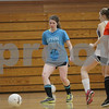 Rob Winner – rwinner@shawmedia.com<br /> <br /> Caitlin Flanigan (left) moves the ball during a drill at soccer practice at Hinckley-Big Rock High School on Wednesday, March 6, 2013.