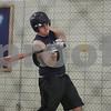 Rob Winner – rwinner@shawmedia.com<br /> <br /> Mike Mercado, a junior, takes batting practice inside the gymnasium at Hiawatha High School in Kirkland, Ill., Saturday, March 9, 2013.