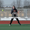Rob Winner – rwinner@shawmedia.com<br /> <br /> Nick Sablich, a senior, participates in the DeKalb's tennis team's first outdoor practice at DeKalb High School on Thursday, March 21, 2013.