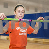 Erik Anderson - For the Daily Chronicle<br /> Genoa-Kingston high jumper Danielle Neisendorf stands during practice at Genoa-Kingston High School in Genoa on Monday, March 18, 2013.