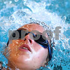 Kyle Bursaw – kbursaw@daily-chronicle.com<br /> <br /> Tara Gidaszewski swims backstroke laps during practice at Huntley Middle School on Tuesday, Aug. 16, 2011.