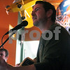 Entertainer Marc Hanson performs for patrons at O'Leary's Restaurant and Pub for St Patricks Day on Sunday.