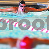 Kyle Bursaw – kbursaw@daily-chronicle.com<br /> <br /> Tara Gidaszewski swims the butterfly stroke for a few laps during practice at Huntley Middle School on Tuesday, Aug. 16, 2011.