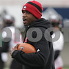 Rob Winner – rwinner@shawmedia.com<br /> <br /> Northern Illinois running backs coach Kelton Copeland during practice at Huskie Stadium in DeKalb, Ill., Wednesday, March 27, 2013.