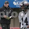 Rob Winner – rwinner@shawmedia.com<br /> <br /> Northern Illinois football coach Rod Carey during practice at Huskie Stadium in DeKalb, Ill., Wednesday, March 27, 2013.