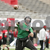 Rob Winner – rwinner@shawmedia.com<br /> <br /> Northern Illinois quarterback Jordan Lynch throws a pass during practice at Huskie Stadium in DeKalb, Ill., Wednesday, March 27, 2013.