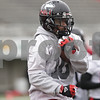 Rob Winner – rwinner@shawmedia.com<br /> <br /> Northern Illinois wide receiver Tommylee Lewis participates in a drill during practice at Huskie Stadium in DeKalb, Ill., Wednesday, March 27, 2013.