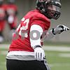 Rob Winner – rwinner@shawmedia.com<br /> <br /> Northern Illinois linebacker Michael Santacaterina runs a drill during practice at Huskie Stadium in DeKalb, Ill., Wednesday, March 27, 2013.