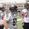 Rob Winner – rwinner@shawmedia.com<br /> <br /> Northern Illinois offensive lineman Scott Taylor (57) during practice at Huskie Stadium in DeKalb, Ill., Wednesday, March 27, 2013.