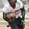 Rob Winner – rwinner@shawmedia.com<br /> <br /> Northern Illinois wide receiver Charlie Miller catches a pass during practice at Huskie Stadium in DeKalb, Ill., Wednesday, March 27, 2013.